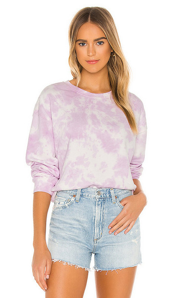 525 america Tie Dye Crew Sweatshirt in Lavender in lilac