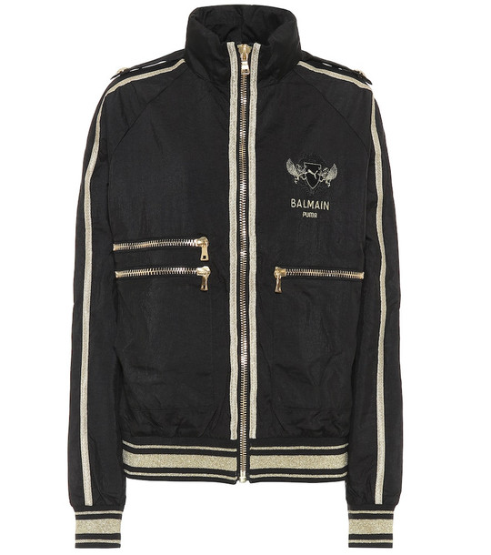 Puma x Balmain nylon jacket in black