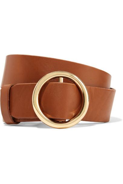 FRAME - Le Circle Leather Belt - Brown
