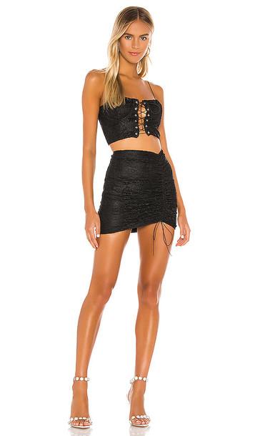 superdown Adele Lace Skirt Set in Black
