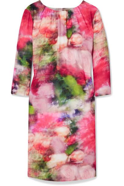 Adam Lippes - Floral-print Washed-crepe Mini Dress - White