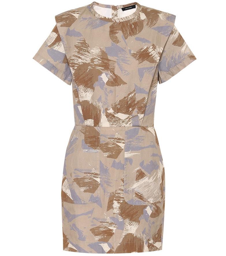 Isabel Marant Exclusive to Mytheresa – Ilesa cotton and linen minidress in beige