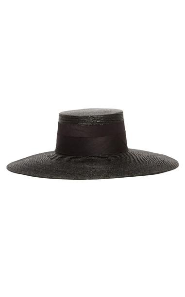 Janessa Leone Desi Straw Hat Size: S in black