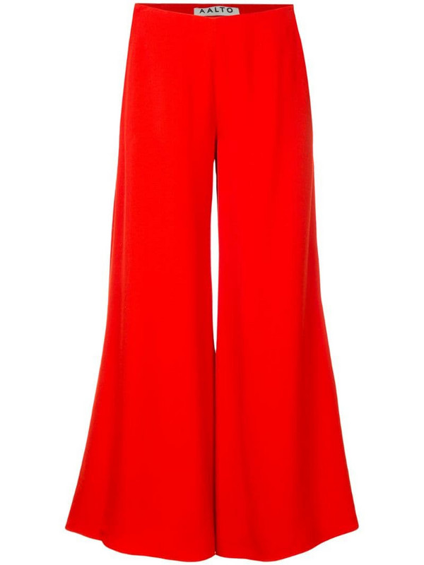 Aalto cropped wide leg trousers in red