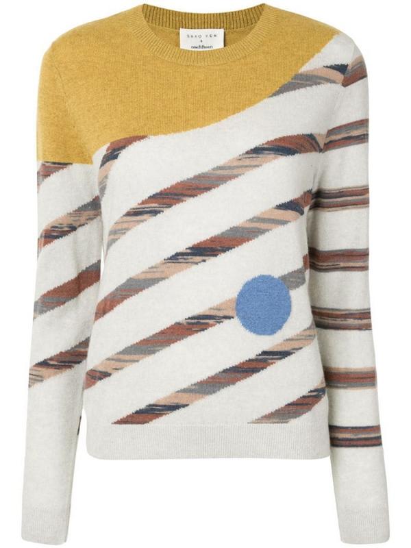 Onefifteen geometric pattern jumper in yellow