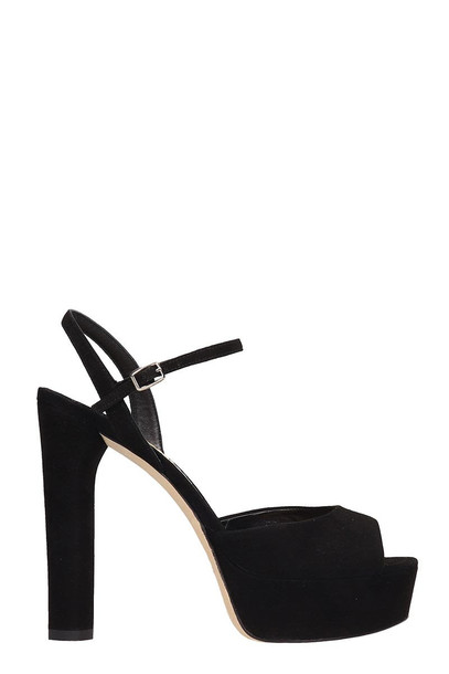 The Seller Black Suede Sandals