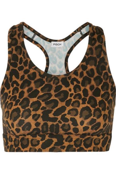 Fisch - Kitts Leopard-print Bikini Top - Leopard print