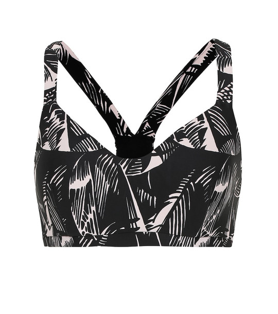 The Upside Larri printed sports bra in black