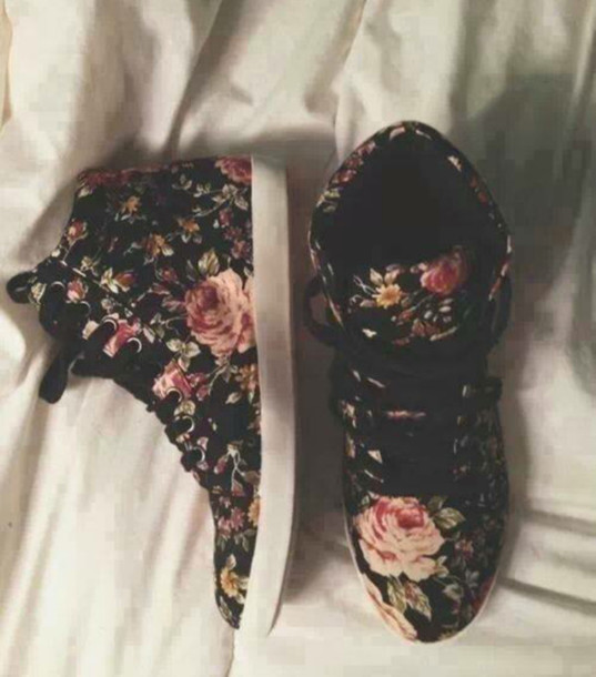 shoes floral print sneakers