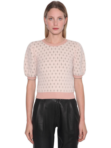 RED VALENTINO Angora Blend Lurex Intarsia Sweater