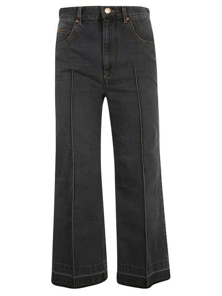 Isabel Marant Cropped Jeans in black