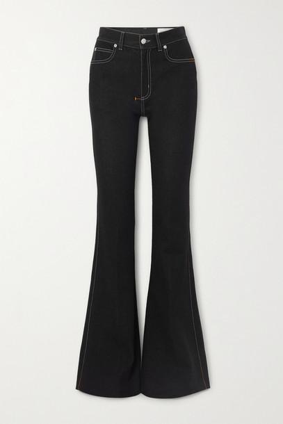 Alexander McQueen - High-rise Flared Jeans - Black