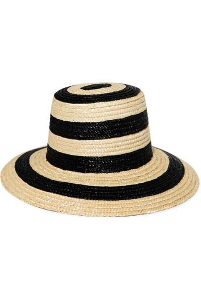 Eugenia Kim - Stevie Striped Straw Hat - Beige