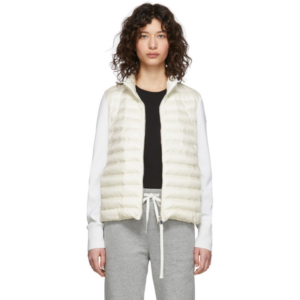 Moncler Off-White Down Knit Combo Jacket