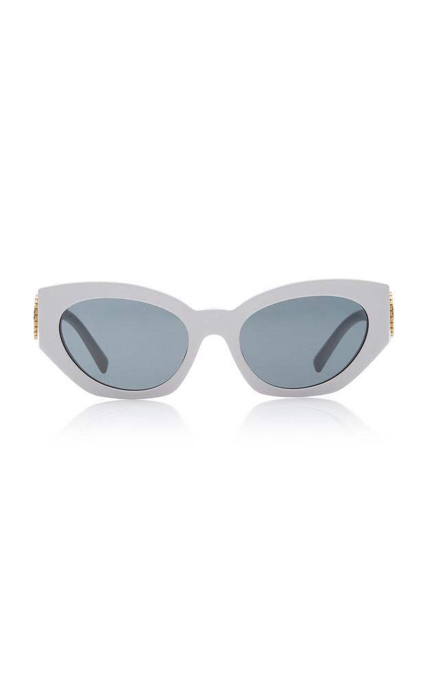 Versace Medusa Cat-Eye Acetate Sunglasses in white