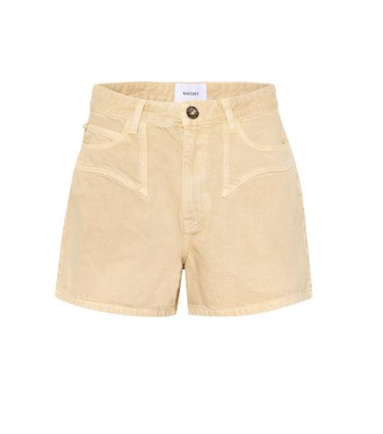 Nanushka Rasa denim shorts in beige
