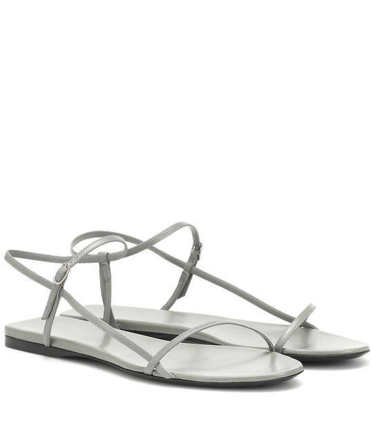 The Row Bare leather sandals in grey