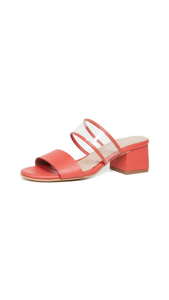 KAANAS Malta Double Band City Slides in red