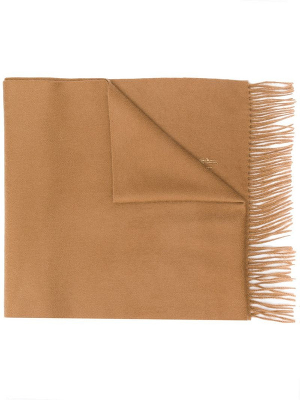 Mackintosh Camel Cashmere Embroidered Scarf - ACC-013/E in brown