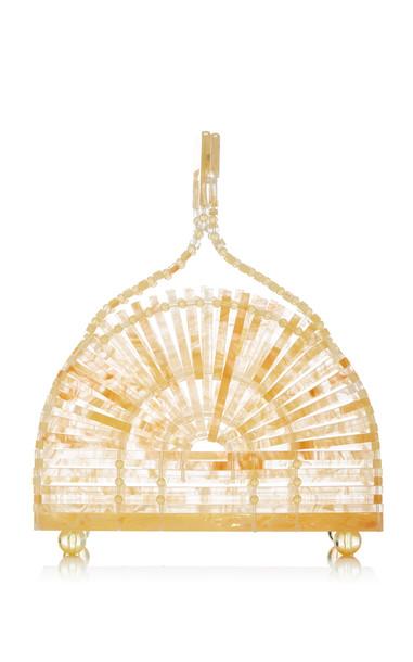 Cult Gaia Mini Cupola Marbled Acrylic Bag in yellow