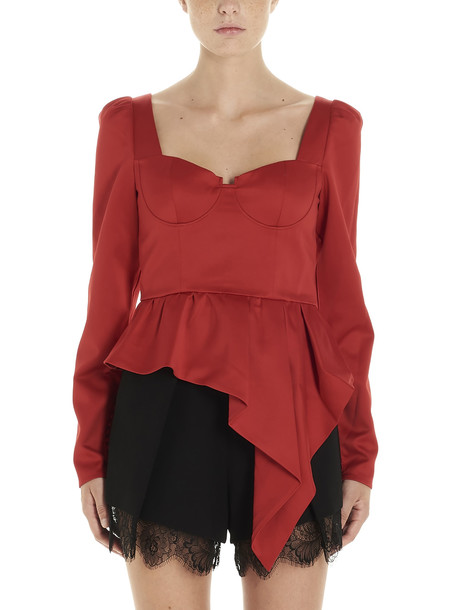 Self-portrait Top in red