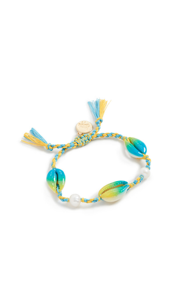 Venessa Arizaga Moonlight Beach Bracelet in blue / yellow