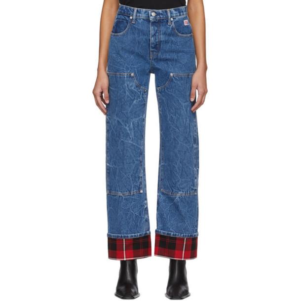 Alexander Wang Blue Cuffed Carpenter Jeans
