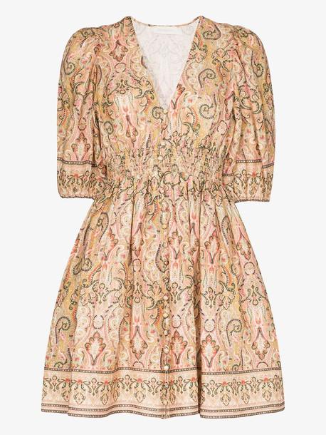 Zimmermann Freja paisley print linen mini dress