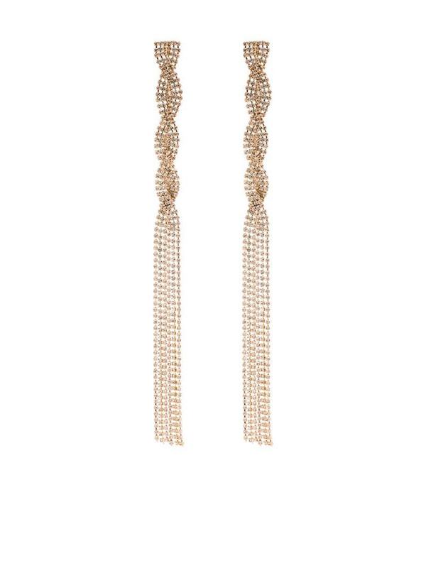 Rosantica gold tone Chevron crystal drop earrings