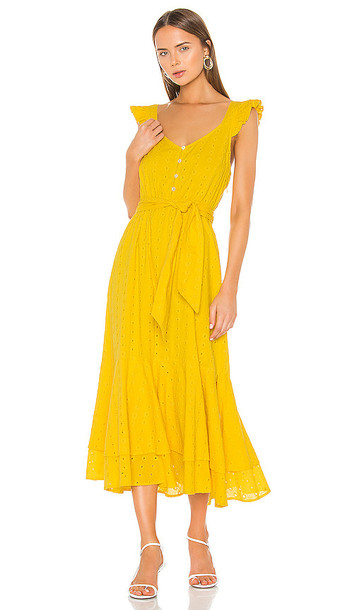 Cleobella Harlow Ankle Dress in Yellow