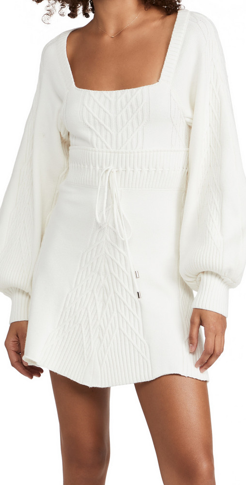 Free People Emmaline Mini Dress in white