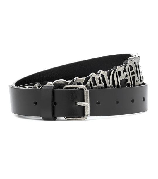 Vetements Embellished leather belt in black