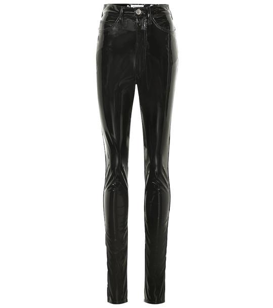 Maison Margiela High-rise skinny vinyl pants in black