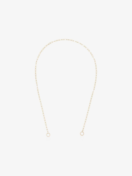 Marla Aaron yellow gold large square chain necklace