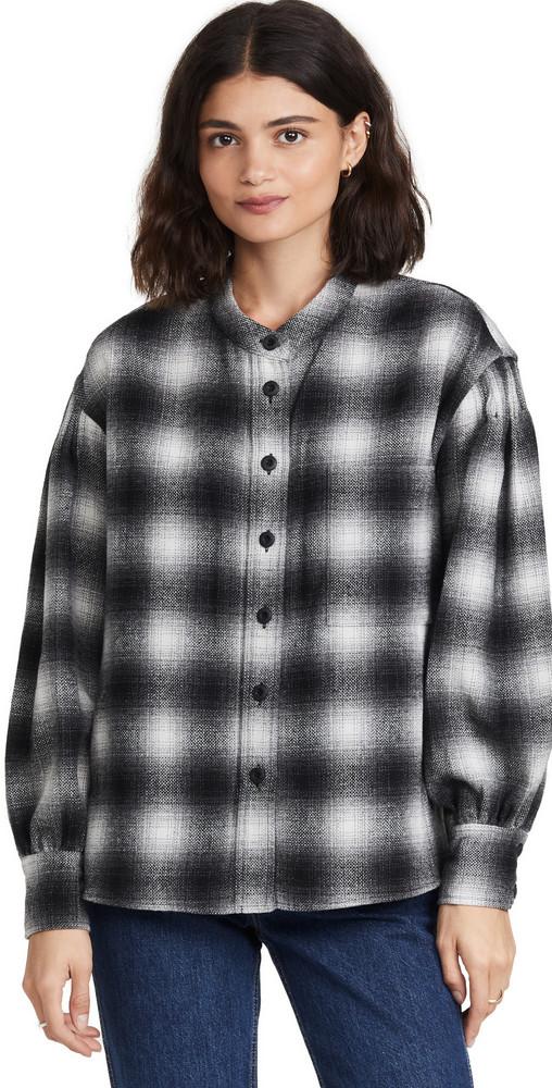 Rebecca Minkoff Nellie Shirt in grey / multi