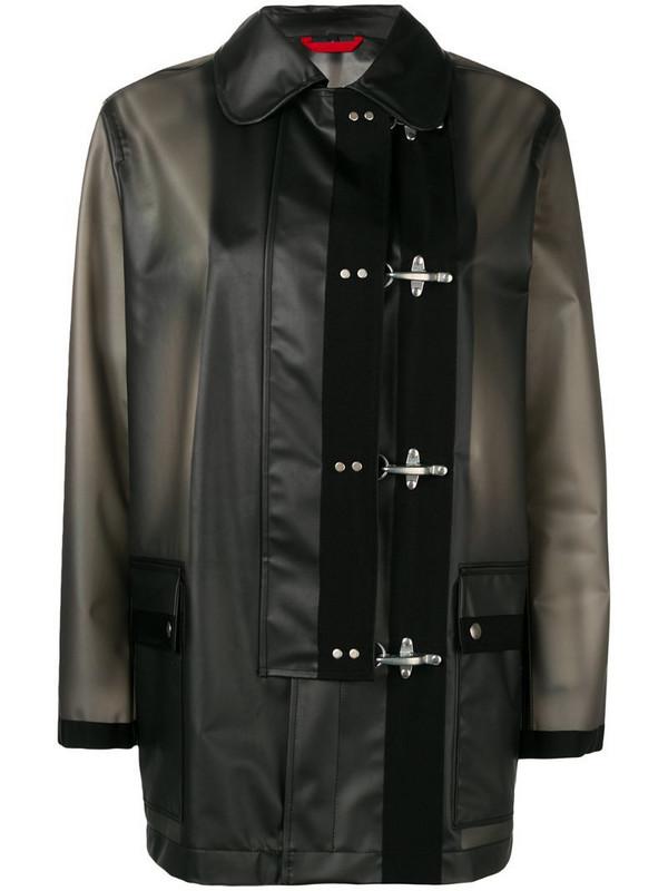 Fay 4 Ganci rain jacket in black