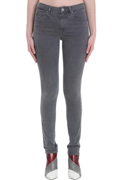 Isabel Marant Étoile Paro Jeans In Grey Denim