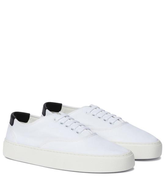 Saint Laurent Venice canvas sneakers in white