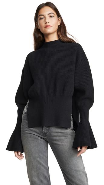 Alexander Wang Mock Neck Pullover in black