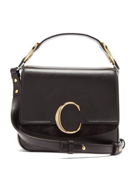 Chloé Chloé - The C Small Square Leather Cross Body Bag - Womens - Black