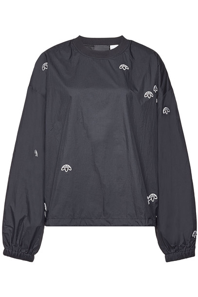 Adidas Originals by Alexander Wang Sweatshirt with Embroidery  in black
