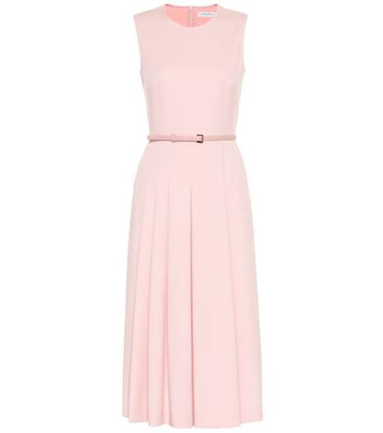 Max Mara Mimma belted wool dress in pink
