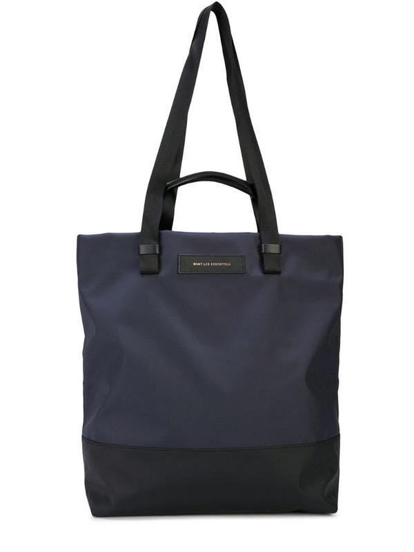 WANT Les Essentiels Dayton shopper tote in blue