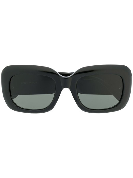 Linda Farrow oversized frame sunglasses in black