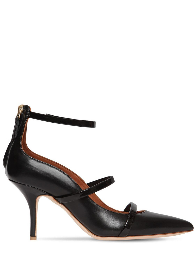 MALONE SOULIERS 70mm Robyn Nappa & Patent Leather Pumps in black