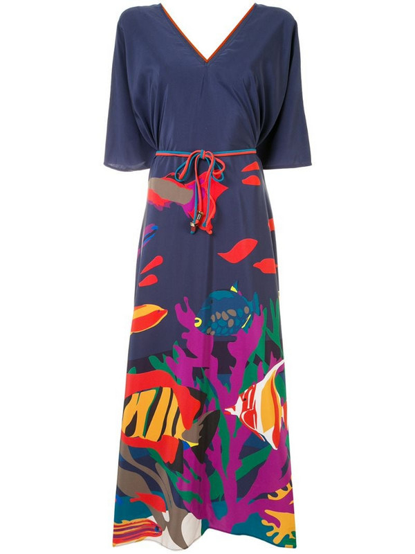 Eres Freshwater maxi dress in blue