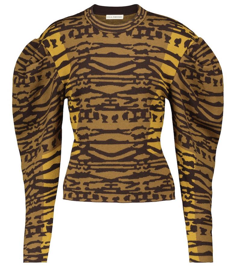 Ulla Johnson Livia jacquard wool sweater in brown