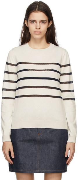 A.P.C. A.P.C. Off-White & Black Cordelia Sweater