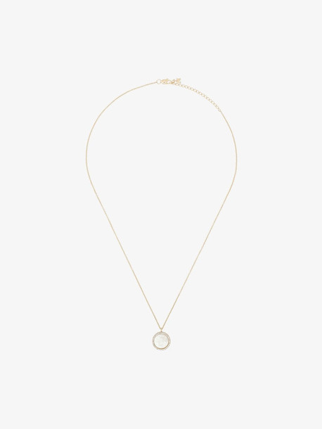 Mateo 14K yellow gold S pearl crystal pendant necklace
