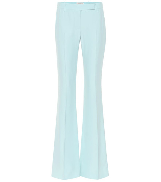 Alexander McQueen Mid-rise flared pants in blue